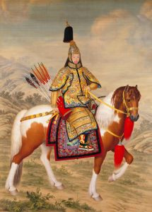 The Qianlong_Emperor_in_Ceremonial_Armour_on_Horseback